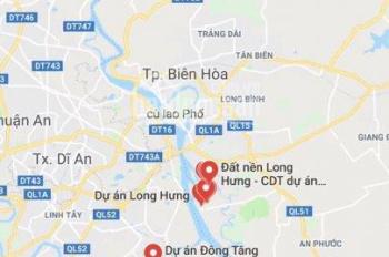 Đất Sổ đỏ khu đô thị Long Hưng, diện tích 100m2, giá tốt để đầu tư, liên hệ ngay: 0914.920.202