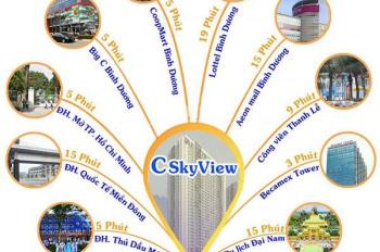 Căn hộ cao cấp C - Sky View Chánh Nghĩa sang trọng, 100% ban công, hồ bơi 600m2 0933841846 Thảo