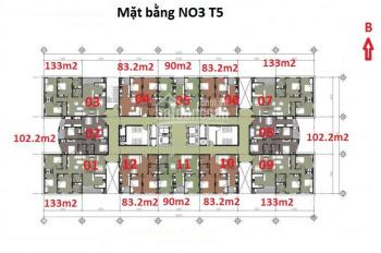Bán căn hộ 1005 chung cư N03 T5 Ngoại Giao Đoàn, 90m2, 2 PN, ban công hướng Bắc, 30 triệu/m2