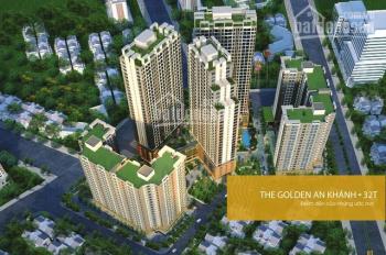 Chính chủ bán căn hộ tầng 1211 tòa 32T CC The Golden An Khánh, DT 65,9m2. Giá 1.050 tỷ