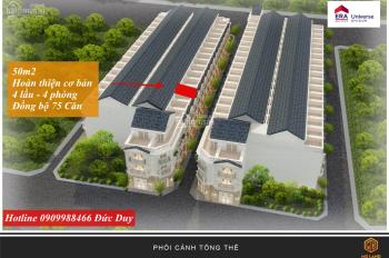 Bán nhà phố Bình Tân 4 lầu, hoàn thiện đẹp đồng bộ 75 căn, 50m2. Có balcony, giếng trời, vị trí đẹp