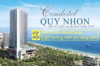 Hưng Thịnh mở bán căn hộ nghỉ dưỡng ngay mặt tiền biển Quy Nhơn giá chỉ từ 1 tỷ/căn. LH: 0909052122