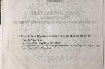 Bán đất giá rẻ, đường nhựa 10m ở Xã Phước Hưng, Long Điền, Bà Rịa Vũng Tàu