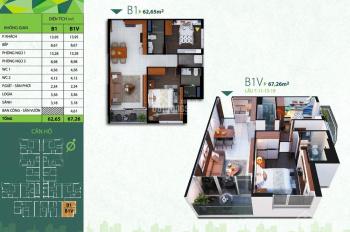 Bán căn nhỏ, 60m2 lầu trung, B2 và B5, căn hộ chuẩn xanh Res Green Tower
