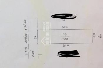 Cần tiền bán gấp lô đất 100m2 siêu đẹp trong ngõ to 727 Ngô Gia Tự, liên hệ 0888.003.678