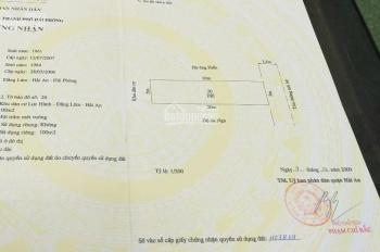 Bán đất 100m2 tại ngõ 162 đường Trung Lực, Đằng Lâm, Hải An, Hải Phòng