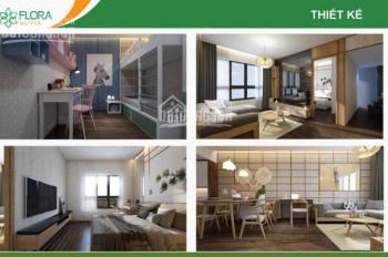 Cần bán gấp căn hộ Flora Novia, 56m2, Block A view hồ bơi, hướng Đông Nam, 2PN. LH: Linh 0933868286