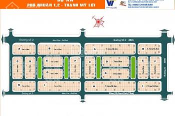 Bán đất nền Phú Nhuận 1 & 2 - Thạnh Mỹ Lợi, Quận 2 - mặt tiền Trương Văn Bang, sổ đỏ