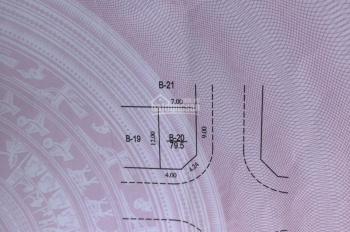 Bán 79.5m2 lô góc khu đấu giá Phú Lương 1 Hà Đông, HN, vị trí rất đẹp SĐCC. Giá 42tr/m2, 0971329976