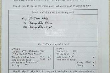 Bán nhà kiệt đường Hoàng Hoa Thám, Đà Nẵng. CC 0931992996