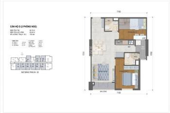 Sang gấp căn West Intela lầu 11 DT 64m2 2PN 2WC chỉ 380tr bao thuế phí. LH 0939 247 610 - Lợi