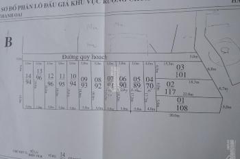 Cần bán mảnh DT 90m2 thôn Hạ, Cự Khê, Thanh Oai, Hà Nội