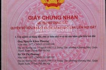 Bán nhà ngõ 190 đường Bằng B, Linh Đàm, Hoàng Mai, Hà Nội