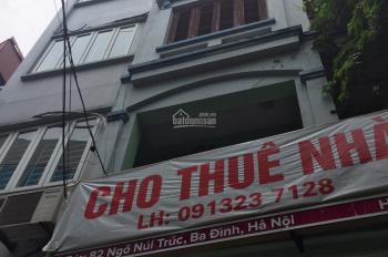 Cho thuê cả nhà 5 tầng 1 tum mặt ngõ gần ngã tư Cát Linh - Giảng Võ, vỉa hè hơn 1m, ô tô đi 2 chiều