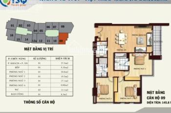 Cho thuê làm văn phòng căn góc 145m2, 3PN, chung cư TSQ - Làng Việt Kiều Châu Âu, giá 12 tr/tháng