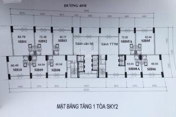 SH sàn thương mại khối đế chung cư, DA Sunshine Crystal River, mặt tiền 7m, xây 3 tầng, giá CĐT