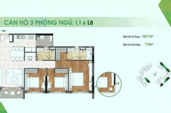 Bán căn hộ Sadora, 3PN 118m2, giá 6,7 tỷ, view Đông Nam mát mẻ