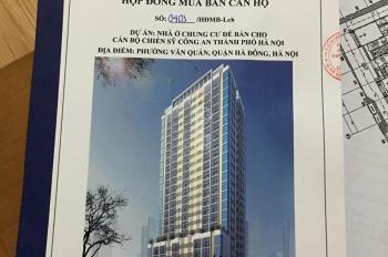 Chính chủ cần bán căn hộ tầng 4A3, 59.2m2, giá 22.7tr/m2, ở 24 Nguyễn Khuyến, Văn Quán, Hà Đông