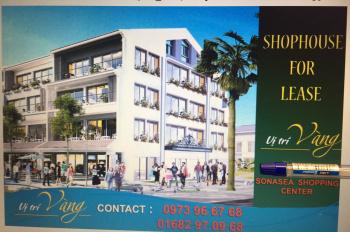 Cho thuê shophouse dự án sonasea villas & resort ceo phú quốc, vị trí đắc địa 3 mặt tiền, đường l