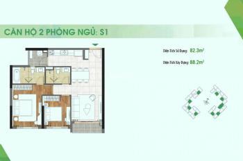 Căn hộ Sadora Apartment 2PN, tầng cao, giá 5.5 tỷ