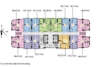 Bán gấp căn hộ 45m2 tòa nhà CT1A khu đô thị Nghĩa Đô, giá cực rẻ