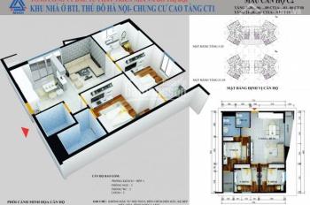 Chính chủ bán chung cư Yên Nghĩa tòa CT1B; T1602; DT: 61,94m2; Giá: 12,5 tr/m2. LH: 0981997618
