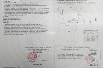 Bán đất thổ cư Thạnh Xuân 25, P. Thạnh Xuân, Q12, TPHCM, diện tích 5x38m, giá 25 tr/m2