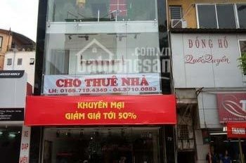 Cho thuê cửa hàng thông sàn mặt phố Tôn Đức Thắng, DT 120m2, MT 7m, giá 60tr/th. LH Hiếu 0974739378