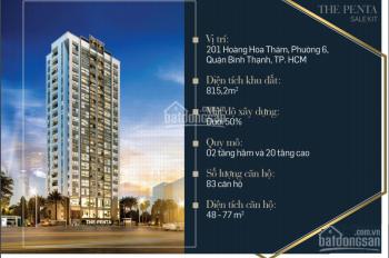 Bán căn hộ 2 PN dự án The Penta 201 Hoàng Hoa Thám, Quận Bình Thạnh