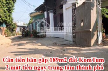 Cần tiền bán gấp 189m2 đất KomTum - Liên hệ: 0941910077