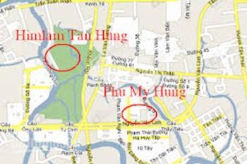 Mặt tiền Hoàng Trọng Mậu (D1), Him Lam quận 7. 5x20m, hầm 5 tầng, hướng đông, 23 tỷ, 0901414778