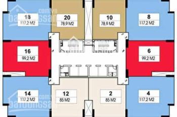 Cần bán căn hộ tòa nhà Rainbow Văn Quán Hà Đông, dt 120m2, 3PN, giá 25 triệu/m2. LH 0949170979