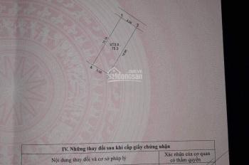 Cần bán đất sổ đỏ tổ dân phố Voi Phục, Trâu Quỳ. DT 75m2, MT 5m, giá 50.5tr/m2 chốt, 0862986662