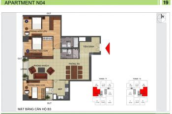 Bán căn 04 tòa N04B-T2 Ngoại Giao Đoàn view hồ Tây 128m2 giá 31tr/m2 full nội thất, LH-0983638558