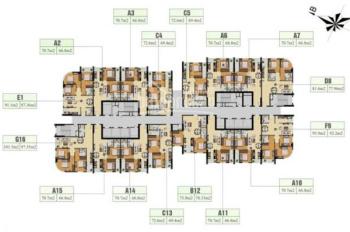 Chính chủ bán cắt lỗ CC Gelexia 885 Tam Trinh 1616 (98m2)-CT3, giá: 18tr/m2, LH: 0349946789