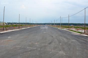 Bán đất 5x15m, 75m2, SHR, mặt tiền đường nhựa, xây dựng tự do, 620 triệu