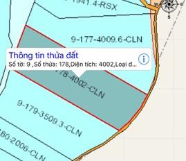 Cần bán 2 lô đất liền kề Suối Cát, Đồng Nai, DT: 3500m2 và 4000m2, giá 170tr/sào