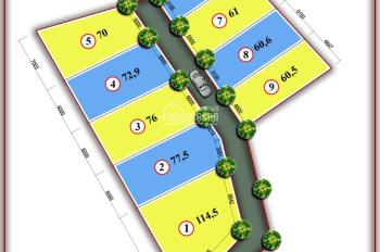 Bán đất thổ cư Tân Xã DT: 60m2, MT 5m khổ đất vuông vắn đường ô tô vào. Giá 360 tr/lô