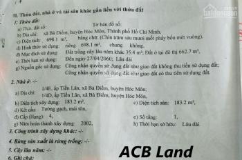 Bán nhà cấp 4 mặt tiền Phan Văn Hớn, Hoc Môn, DT 18,5x38m. CN: 700m2. Bán 44 tỷ