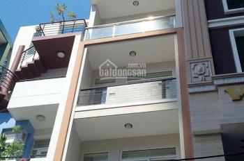 Bán nhà mặt tiền giá rẻ quận Bình Thạnh. Trệt, lửng, 3 lầu, sân thượng, có thang máy CN: 54m2