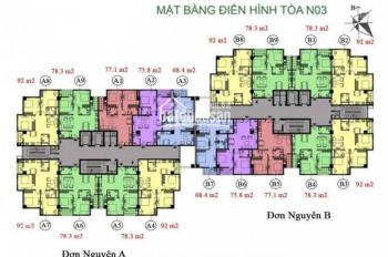 Muốn chuyển nhượng nhanh căn hộ CC K35 Tân Mai, căn 05, tòa NO3A, 78.3m2, 24.3 tr/m2, 0385288725