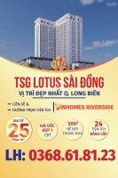 TSG Lotus Riverside CC Cao Cấp ngay cạnh Vinhomes Riverside. Ưu đãi CK 3% và LS 0% dành cho KH