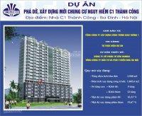 Giải phóng thủ đô 10/10 bàn giao sàn văn phòng C1 Thành Công, LH PKD: 0972864501 để nhận thông tin