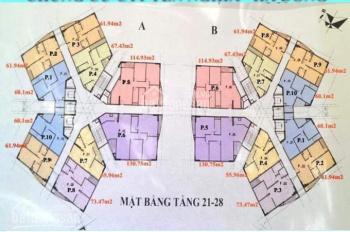 Chính chủ cần tiền bán CT1 Yên Nghĩa; T1201 - CT1B, DT: 60,1 m2, gía: 12,5 tr/m2. LH 0934485810