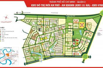 Bán đất nền biệt thự Quận 2, 10x20m, đối diện hồ sinh thái, giá 210 tr/m2