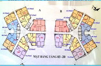 (Chú Ngọc-0936104216), bán CC CT1 Yên Nghĩa, CH 909 tòa A. DT 73,47m2, giá bán 12.5tr/m2