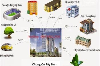 Chung cư 7A Lê Đức Thọ trung tâm quận Cầu Giấy, giá chỉ từ 21tr/m2. Liên hệ: 0973.351.259
