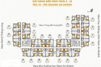 Chính chủ băn căn số 07 tòa 18T chung cư The Golden An Khanh,DT:69,2m2,giá 1,050 tỷ.LH:0904999135.