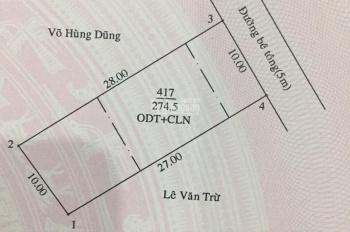 Đất Phú Thọ hẻm bê tông 5m thông ra Lê Hồng Phong, Thủ Dầu Một, Bình Dương