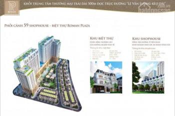 Ban quản lý dự án Roman Plaza, chuyên cho thuê các căn biệt thự, LK